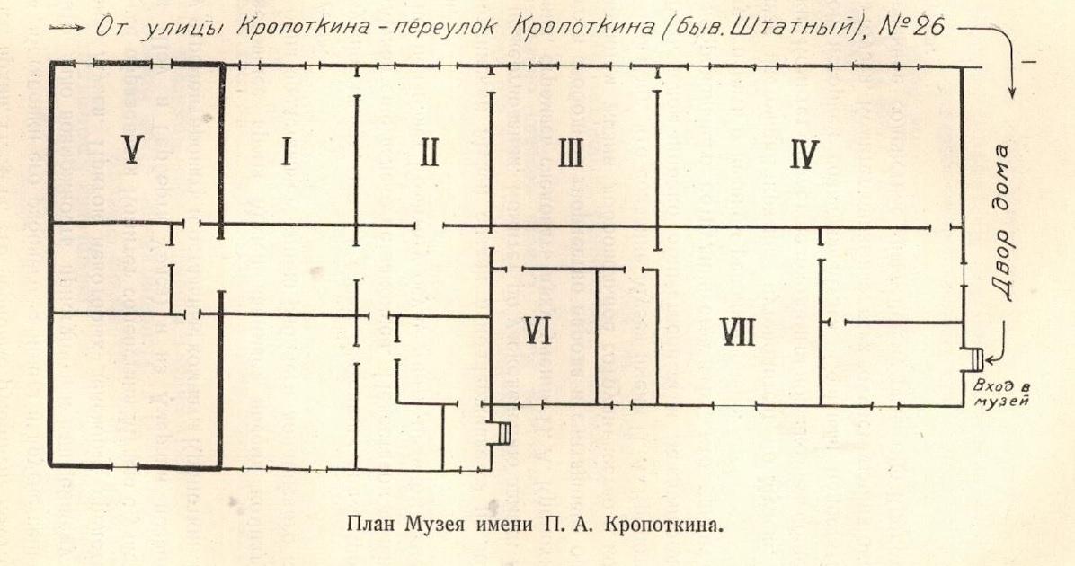 План Музея имени П.А.Кропоткина